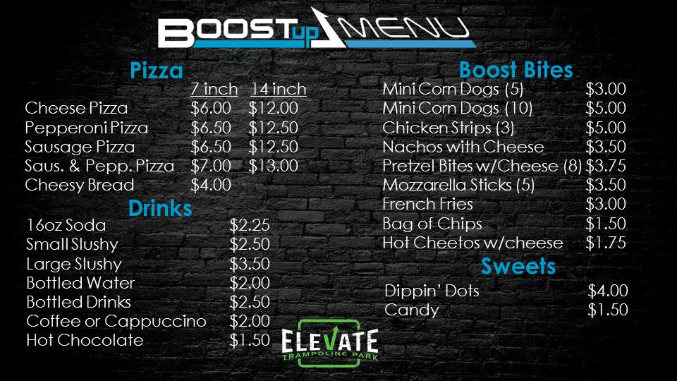 EV8 Peoria Boost Up Menu