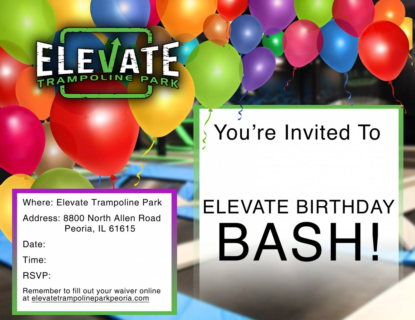 Elevate Birthday Flyer - Peoria